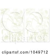 Royalty Free RF Clip Art Illustration Of A Digital Collage Of Faded Floral Invitation Backgrounds