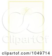 Royalty Free RF Clip Art Illustration Of A Pastel Golden Wedding Invitation Background 1