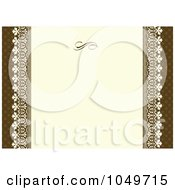 Royalty Free RF Clip Art Illustration Of A Brown Ornamental Invitation Background 3