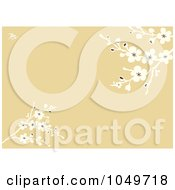 Royalty Free RF Clip Art Illustration Of A Spring Blossom Branches Over A Tan Background