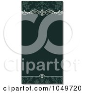 Royalty Free RF Clip Art Illustration Of A Vertical Green Floral Invitation Background With Shading