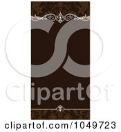 Royalty Free RF Clip Art Illustration Of A Brown Ornamental Invitation Background 2