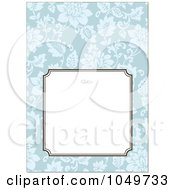 Royalty Free RF Clip Art Illustration Of A Blue Floral Pattern Invitation Design Background 6