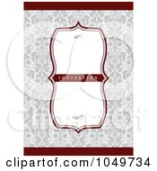 Royalty Free RF Clip Art Illustration Of A Red And Gray Floral Invitation Background 1