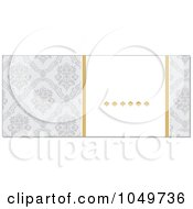 Royalty Free RF Clip Art Illustration Of A Horizontal Gray And Gold Damask Floral Invitation Background 1