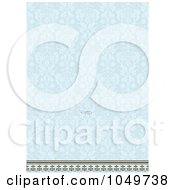 Royalty Free RF Clip Art Illustration Of A Blue Floral Pattern Invitation Design Background 1
