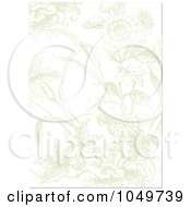 Royalty Free RF Clip Art Illustration Of A Faded Floral Invitation Background 1