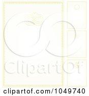 Royalty Free RF Clip Art Illustration Of A Digital Collage Of Pastel Golden Wedding Invitation Backgrounds