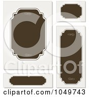 Royalty Free RF Clip Art Illustration Of A Digital Collage Of Brown And Off White Blank Labels