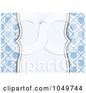 Royalty Free RF Clip Art Illustration Of A Blue Floral Pattern Invitation Design Background 3