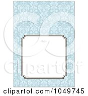Royalty Free RF Clip Art Illustration Of A Blue Floral Pattern Invitation Design Background 2 by BestVector