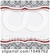 Royalty Free RF Clip Art Illustration Of A Red And Gray Floral Invitation Background 2