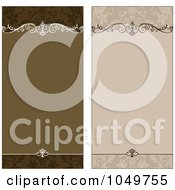 Royalty Free RF Clip Art Illustration Of A Digital Collage Of Tan And Brown Ornamental Invitation Backgrounds