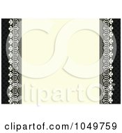 Royalty Free RF Clip Art Illustration Of A Black And Beige Ornate Invitation Background