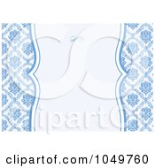 Royalty Free RF Clip Art Illustration Of A Blue Floral Pattern Invitation Design Background 4