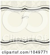 Royalty Free RF Clip Art Illustration Of A Beige And Gray Floral Pattern Invitation Background