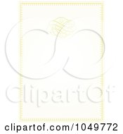 Royalty Free RF Clip Art Illustration Of A Pastel Golden Wedding Invitation Background 3