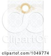 Royalty Free RF Clip Art Illustration Of A Golden Header On A Floral Pattern Invitation Background 1