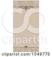 Royalty Free RF Clip Art Illustration Of A Tan Ornamental Invitation Background