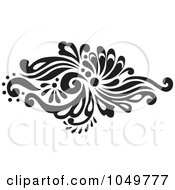 Royalty Free RF Clip Art Illustration Of A Black Vintage Elegant Damask Design Element 4
