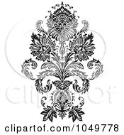 Royalty Free RF Clip Art Illustration Of A Black Vintage Elegant Damask Design Element 1