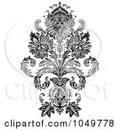 Royalty Free RF Clip Art Illustration Of A Black Vintage Elegant Damask Design Element 1 by BestVector