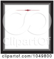 Royalty Free RF Clip Art Illustration Of A Black And Gray Square Frame With A Red Rule Design Around White Copyspace 1