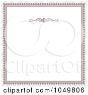 Royalty Free RF Clip Art Illustration Of A Red Victorian Frame And Gray Around White Copyspace