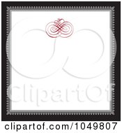 Royalty Free RF Clip Art Illustration Of A Black And Gray Square Frame With A Red Swirl Design Around White Copyspace 3