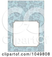 Royalty Free RF Clip Art Illustration Of A Blue Floral Pattern Invitation Design Background 7
