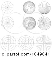 Royalty Free RF Clip Art Illustration Of A Digital Collage Of Black And White Circles And Bullseyes