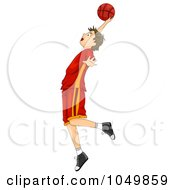 Royalty Free RF Clip Art Illustration Of A Teenage Boy Playing Basketball