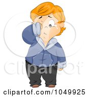 Royalty Free RF Clip Art Illustration Of A Bullied Chubby Boy Crying