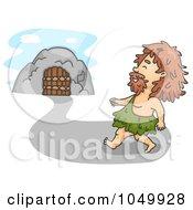 Royalty Free RF Clip Art Illustration Of A Caveman Walking Home
