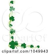 St Patricks Day Border Of Green Swirls And Shamrocks