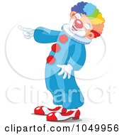 Royalty Free RF Clip Art Illustration Of A Clown Laughing And Pointing