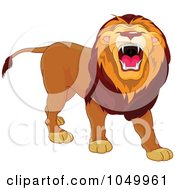 Royalty Free RF Clip Art Illustration Of A Lion Roaring