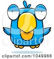 Royalty Free RF Clip Art Illustration Of A Hovering Blue Bird