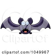 Royalty Free RF Clip Art Illustration Of A Purple Bat Flying by Cory Thoman