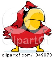 Royalty Free RF Clip Art Illustration Of A Mad Red Cardinal by Cory Thoman