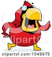 Royalty Free RF Clip Art Illustration Of A Red Cardinal Walking