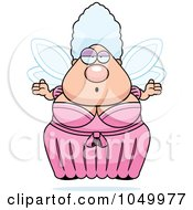 Royalty Free RF Clip Art Illustration Of A Plump Fairy Godmother Shrugging by Cory Thoman