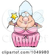 Royalty Free RF Clip Art Illustration Of A Plump Fairy Godmother by Cory Thoman