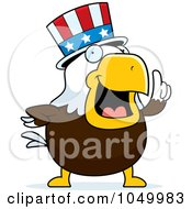 Royalty Free RF Clip Art Illustration Of A Bald Eagle Uncle Sam