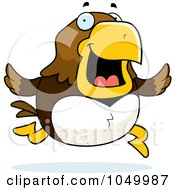 Royalty Free RF Clip Art Illustration Of A Hawk Running by Cory Thoman