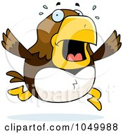 Royalty Free RF Clip Art Illustration Of A Hawk Panicking by Cory Thoman