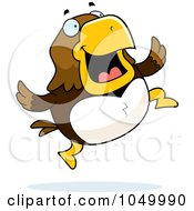 Royalty Free RF Clip Art Illustration Of A Hawk Jumping by Cory Thoman