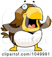 Royalty Free RF Clip Art Illustration Of A Hawk Waving by Cory Thoman