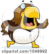 Royalty Free RF Clip Art Illustration Of A Hawk Walking by Cory Thoman