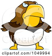 Royalty Free RF Clip Art Illustration Of A Mad Hawk by Cory Thoman